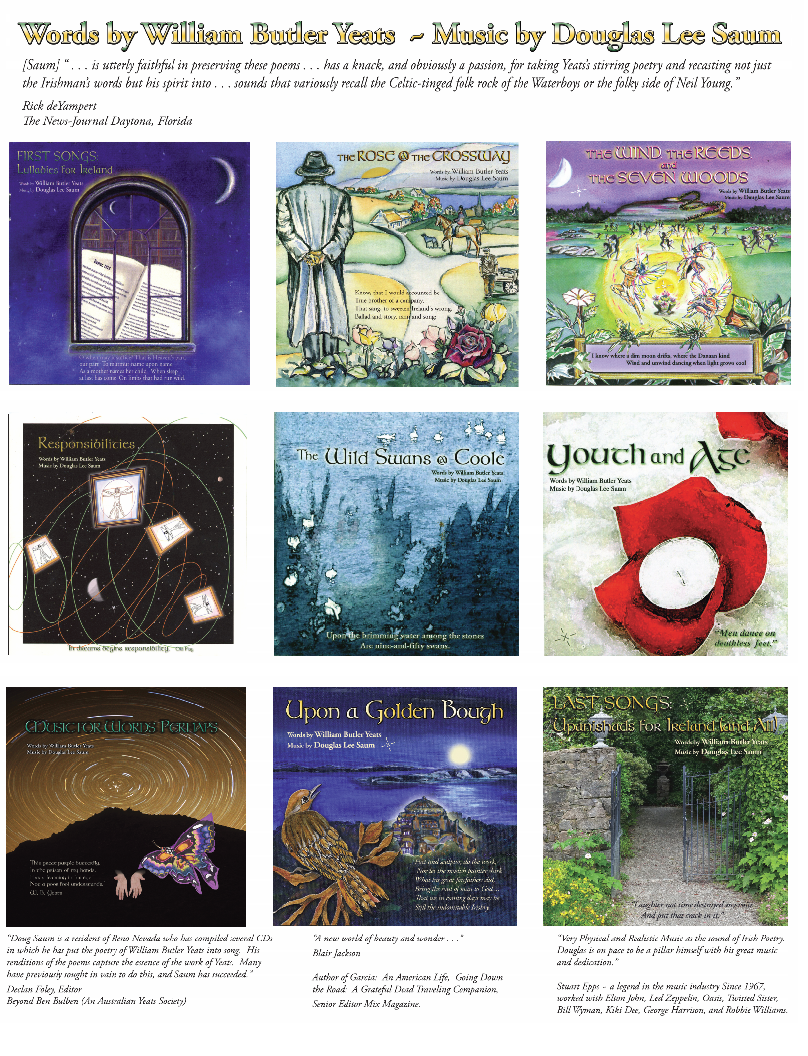 Poster image of Douglas Lee Saum's CDs